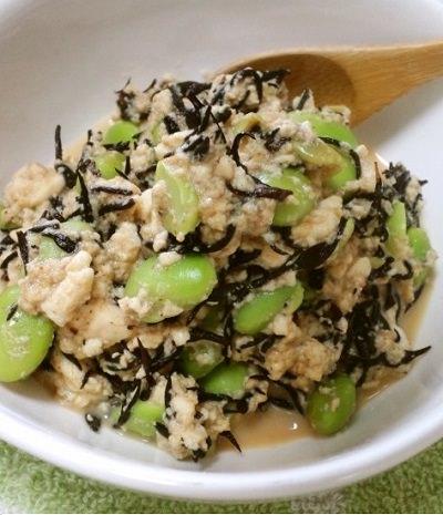 ひじきと枝豆のお豆腐煮レシピ