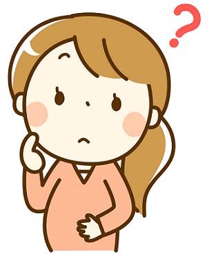 妊娠線に悩む妊婦さんの画像