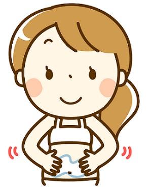 妊娠線予防をする妊婦さんの画像