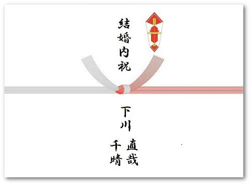結婚内祝い熨斗の表書きの見本